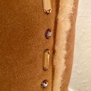 Tory Burch Shoes - Tory Burch Embellished Tall Shearling Soft Boots